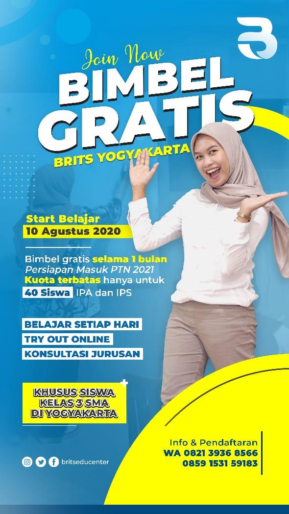 Bimbel-kelas-3-SMA-Gratis-di-BRITS-Indonesia-Yogyakarta