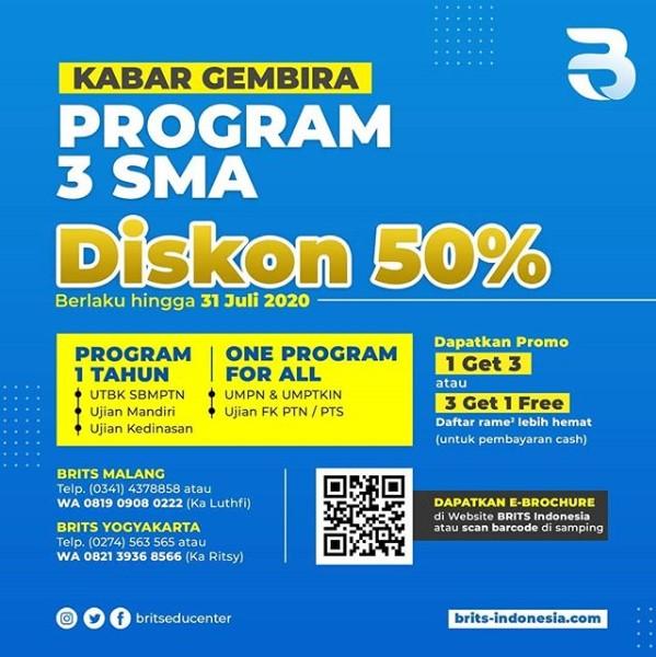 Program kelas 3 SMA BRITS Indonesia di Yogyakarta 081909080222