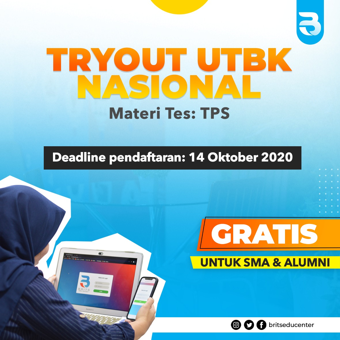 Try Out UTBK TPS GRATISS Brits Indonesia 2021 #SuksesUTBK2021